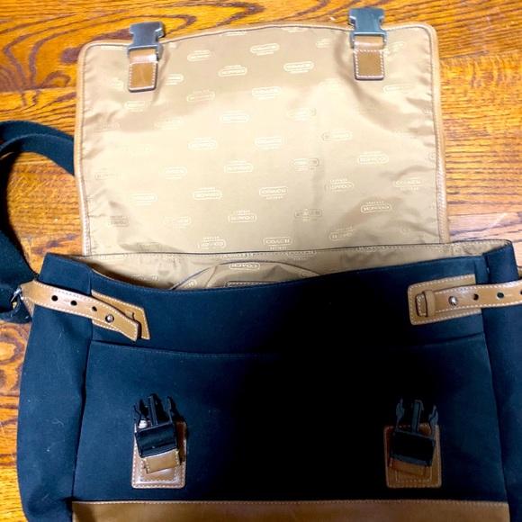 COACH vintage black canvas leather messenger bag